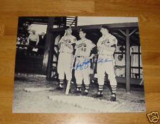 1950's BRAVES Bobby Thomson & Andy Pafko signed 16x20 photo w/ BATS Milwaukee