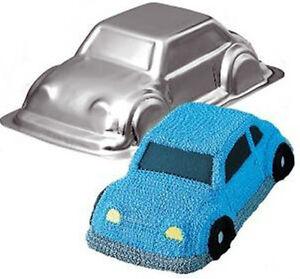REDUCED 3D CAR CRUISER CAKE NOVELTY TIN PAN BEETLE PASS DRIVING CAKE DECORATING