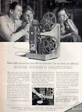 1962 Eastman Kodak Projector Sound 8  PRINT AD