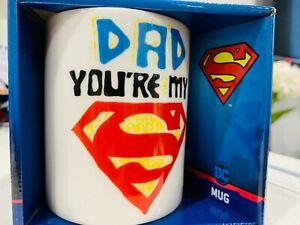 DC superman MUG DAD you are my superman Collection Coffee Mug Boxed XMAS GIFT