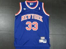 Nwt Patrick Ewing #33 New York Knicks Hwc 90's Retro Throwback Jersey Blue