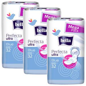 Bella Perfecta Ultra Binden BLUE mit Flügel - extra Soft - 3x32 Stück