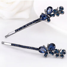 Fashion Crystal Rhinestone Butterfly Hair Barrette Clips Hairpin Women Gift