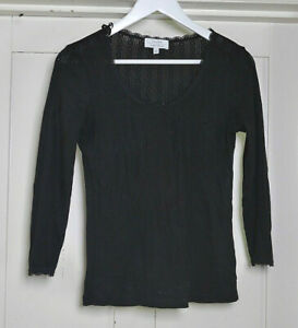 And Other Stories Women's Black Round Neck Top Size Small