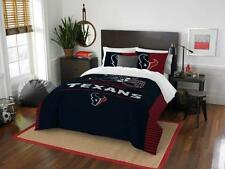 Houston Texans - 3 Pc FULL / QUEEN SIZE Printed Comforter / Sham Set