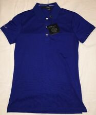 NWT RLX BY RALPH LAUREN  WOMEN SS POLO COLOR SAPPHIRE BLUE SOLID SIZE SMALL