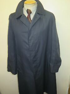 "Genuine Vintage Aquascutum Blue Raincoat Coat Mac Size 44"" R Euro 54 R"