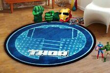 Thor Hammer Round Kids Rug - 100cm