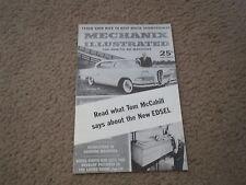 1958 EDSEL MODEL INTRODUCTION DEALER ONLY MECHANIX ILLUSTRATED MAGAZINE BROCHURE