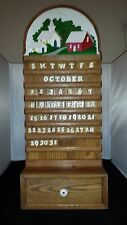 Hand Crafted Wooden Oak Country Calendar