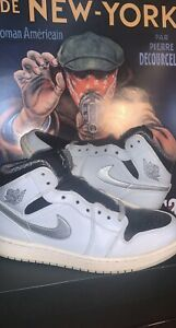 Size 9.5 - Jordan 1 Retro Mid Wolf Grey USED OG ALL NO PAPER