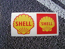 Shell Stickers Retro Style 50mm 1955 & 1961 Fuel FERRARI F1 Lemans Petrol Diesel