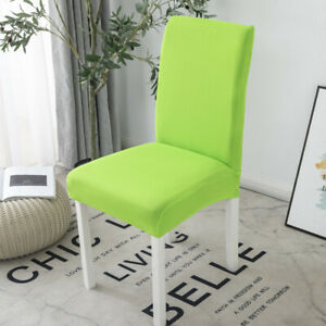 Solid Color Stretch Dining Chair Covers Wedding Chair Seat Protector Slipcover