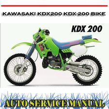 KAWASAKI KDX200 KDX-200 BIKE 1989-1994 WORKSHOP SERVICE REPAIR MANUAL ~ DVD