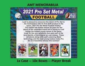 Sage Surratt Detroit Lions 2021 Leaf Pro Set Metal 1X Case 10x BOX BREAK #6