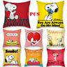 Home Decor Popular Dog Cute Snoopy Peach Skin Pillowcase Sofa Cushion Cover