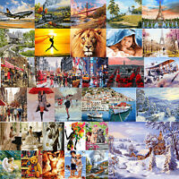 Digital Painting By Number Kit DIY Busy Street Canvas Oil Art Picture Craft Home