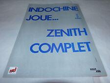 INDOCHINE - Publicité de magazine / Advert !!! ZENITH COMPLET MARS !!!