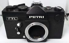 Vintage 1970's Black Petri TTL 35mm Film SLR stills camera - M42 mount