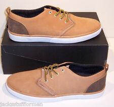 Quiksilver Men's RF1 Low Premium Sz 12 M Tan Nubuck Skate Sneakers Shoes $90