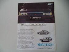 advertising Pubblicità 1986 AUSTIN MONTEGO TURBO