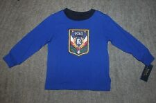 Polo Ralph Lauren Boys Blue Long Sleeve T-Shirt - Size 2T - NWT