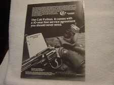 Colt Python 1993 single sheet sales brochure