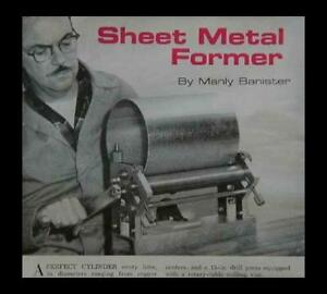 """Sheet Metal Former up to 12"""" 20 guage How-To build it PLANS"""