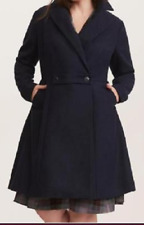 Torrid Outlander Navy Blue Claire Swing Coat size 4