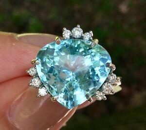 H. Stern 7.29 CTW Aquamarine and Diamond Ring 18K White Gold