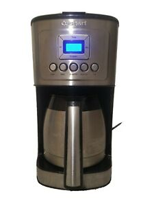 Cuisinart Stainless Steel Thermal Coffee Maker, 12 Cups Carafe, Silver, Used
