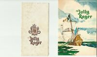 Vintage THE JOLLY ROGER Menu Laguna Beach California 1963