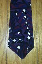 Van Heusen 417 Tie Abstract Design Purple Blue Maroon White Black NIB t4444