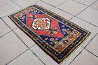 Turkish Door Mat Rug 1.9 x 3.7 ft Vintage Anatolian Cappadocia Region Small Rug