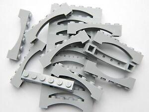 LEGO ARCH 1x6 x20 pieces # LIGHT STONE GREY # bridge window wall castle