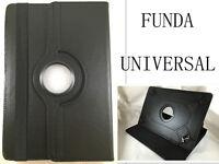 "FUNDA CARCASA TABLET DE 10"" 10,1"" PULGADAS UNIVERSAL GIRATORIA 360º COLOR NEGRO"