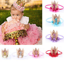 Kids Girl Baby Princess Flower Crown Party Birthday Headband Hair Band Headwear