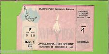 #D146. 1956 MELBOURNE OLYMPIC GAMES SWIMMING TICKET 1st December