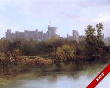 WINDSOR CASTLE 19TH CENTURY ENGLAND PAINTING BRITISH UK ART REAL CANVAS PRINT
