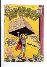 SUPERBOY #44 1955 DC Golden Age Clark Kent Strongman FR/GD