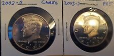 2002 S AND 2003 S PROOF KENNEDY HALF DOLLAR - 2 GEM PROOFS!!!