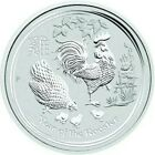 2017 2 Oz Silver $2 Australia LUNAR YEAR OF THE ROOSTER BU Coin.