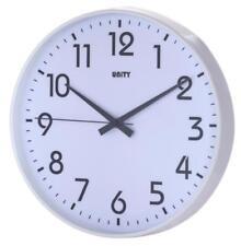 UNITY FRADLEY WHITE CASE SILENT SWEEP WALL CLOCK 30CM