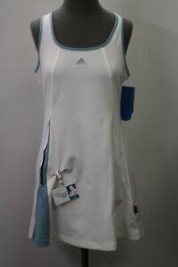 NEW Adidas Women's Size Large White Spray Dust Tennis Dress L NWT