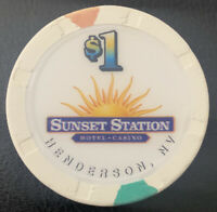$1 Casino Chip - SUNSET STATION HENDERSON, NV - Paulson H&C Hat And Cane