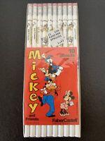 Vtg 10 Pack Walt Disney MICKEY MOUSE Faber Castell No. 2 Pencils NIB NOS