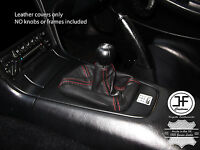 RED STITCH MANUAL REAL LEATHER SHIFT BOOT FITS TOYOTA MR2 MK2 1989-2000