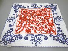 Taj Wood Scherer Kissenbezug Kissenhülle weiß/ blau/ rot 50x50 cm