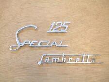 LAMBRETTA SPECIAL 125 LEGSHIELD CHROME BADGE SET - BRAND NEW