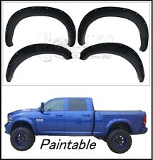 2009-2016 Dodge Ram 1500 Pocket Bolt On Rivet Style Fender Flares Paintable
